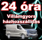 Gyors házhozszállítás 24 órán belül országosan.